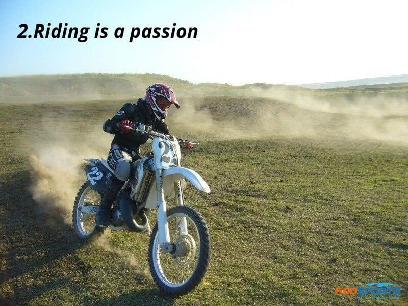 ride a motorcycle is a passion