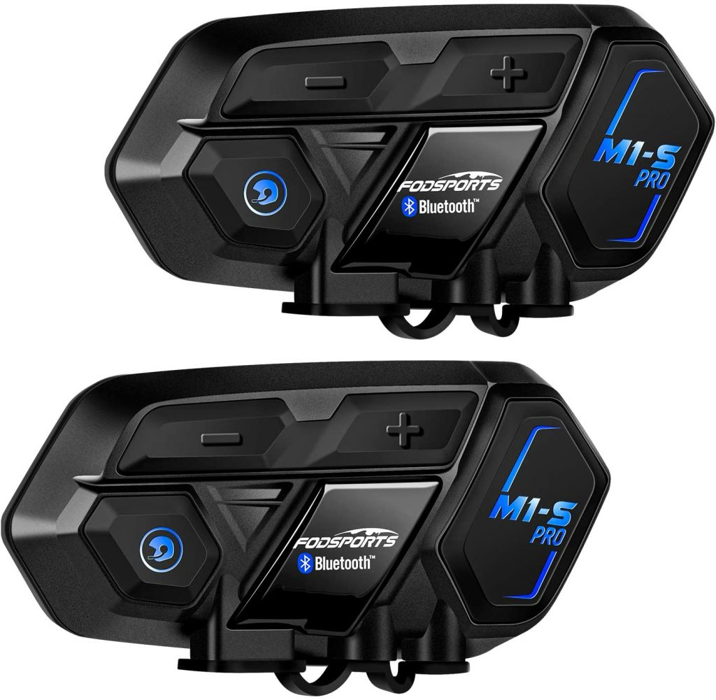 Fodsports M1-S Pro Group Riders Motorcycle Helmet Bluetooth Headset Communication Systems Kit 2 Pack
