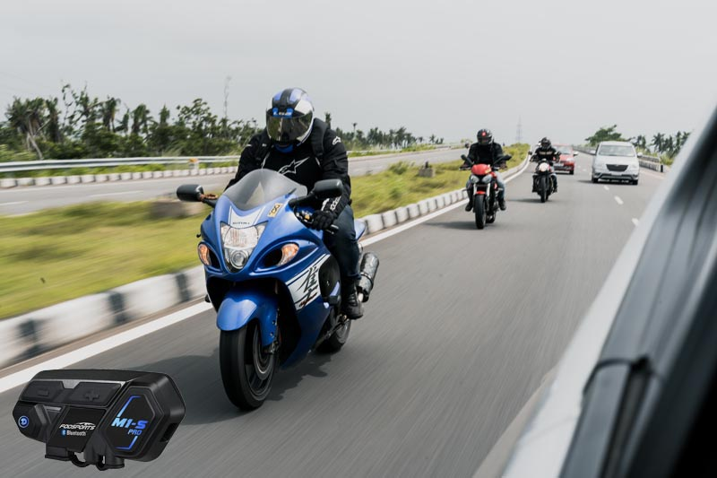 Motorcycle bluetooth communication system