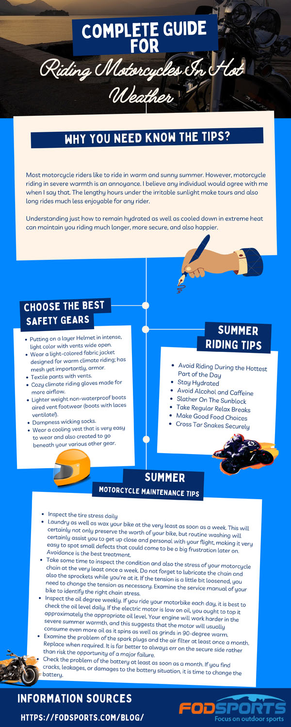 Complete Guide For Riding Motorcycles In Hot Weather