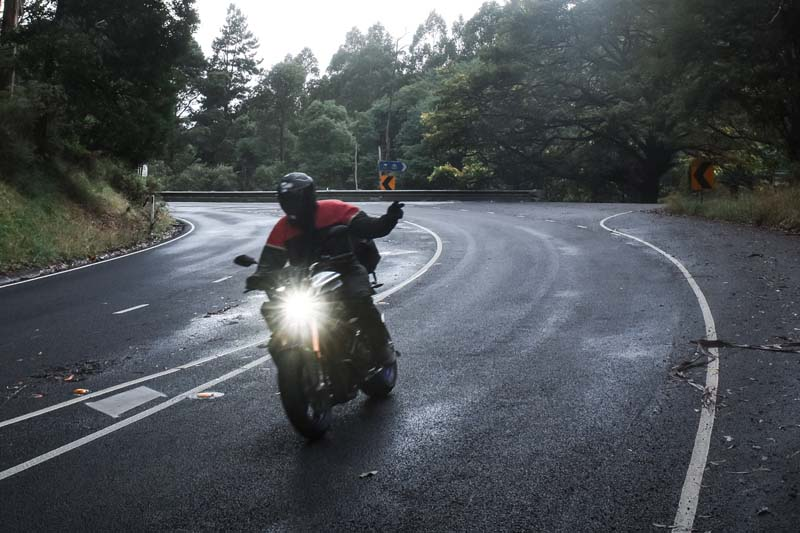 Riding A Motorcycle In The Rain