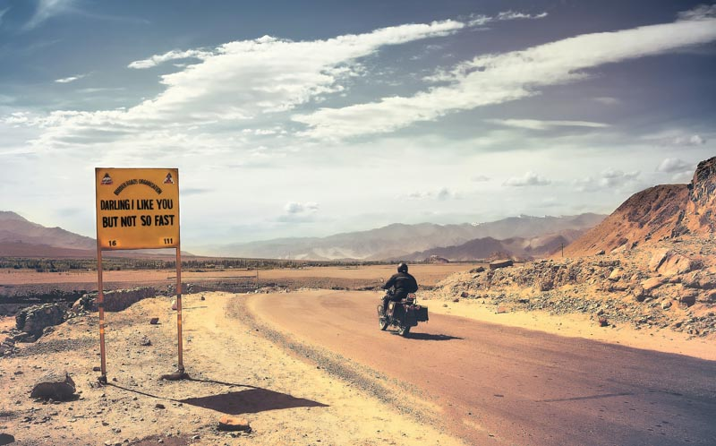 rider on the road