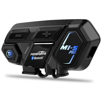 M1S Pro Intercom 8 Riders Group Motorbike Helmet Communication System Headset