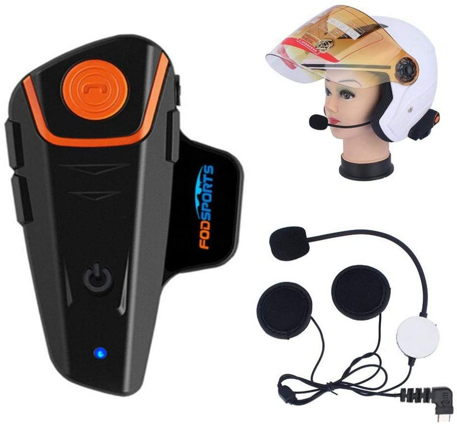 Fodsports BT-S2 Pro motorcycle intercom with accessories