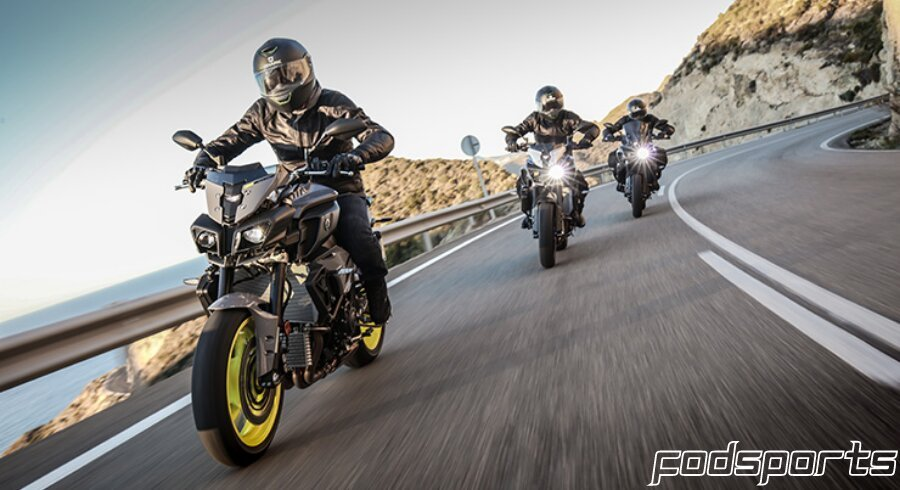 3 riders who are on a motorcycle trip are sharing the road conditions
