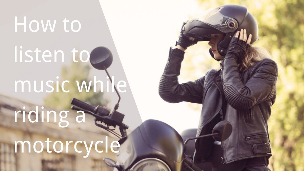 A girl is getting on and off the motorcycle and taking off the helmet
